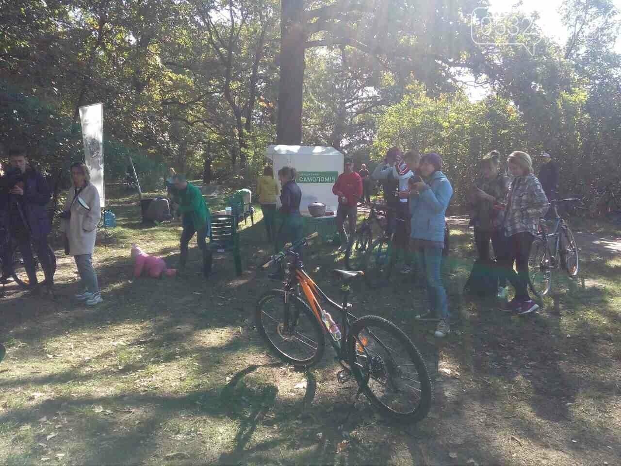Драйвова субота: у Дендропарку полтавці на велосипедах розгадують квест з кашею та глінтвейном, фото-5