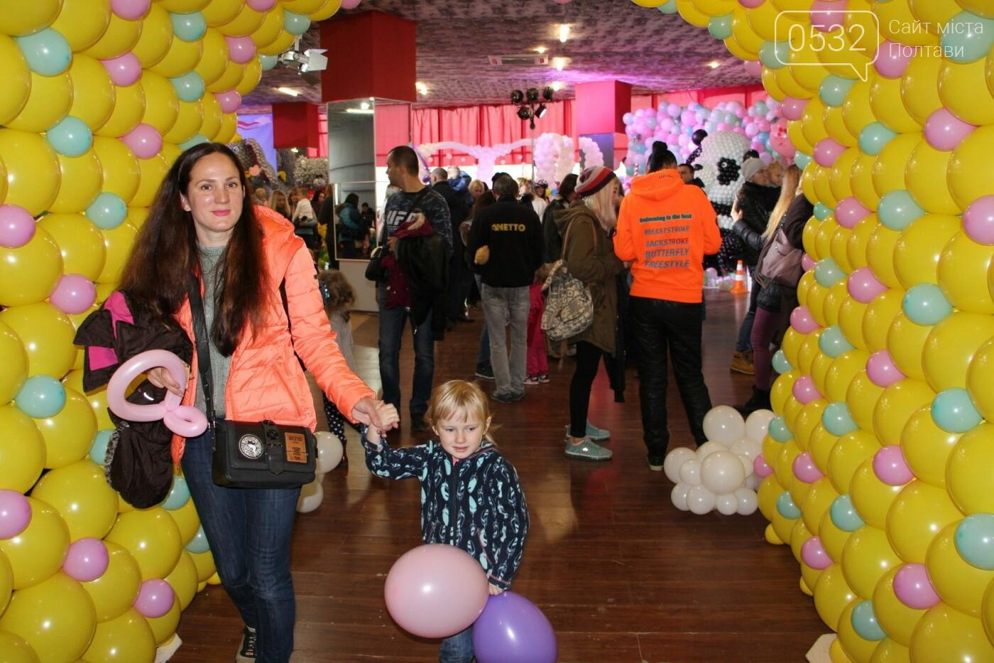 Діти у захваті – у Полтаві вперше організували виставку великих фігур із повітряних кульок (ФОТО)   , фото-2