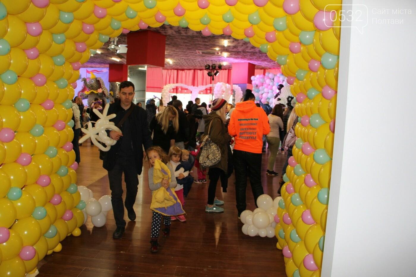 Діти у захваті – у Полтаві вперше організували виставку великих фігур із повітряних кульок (ФОТО)   , фото-1