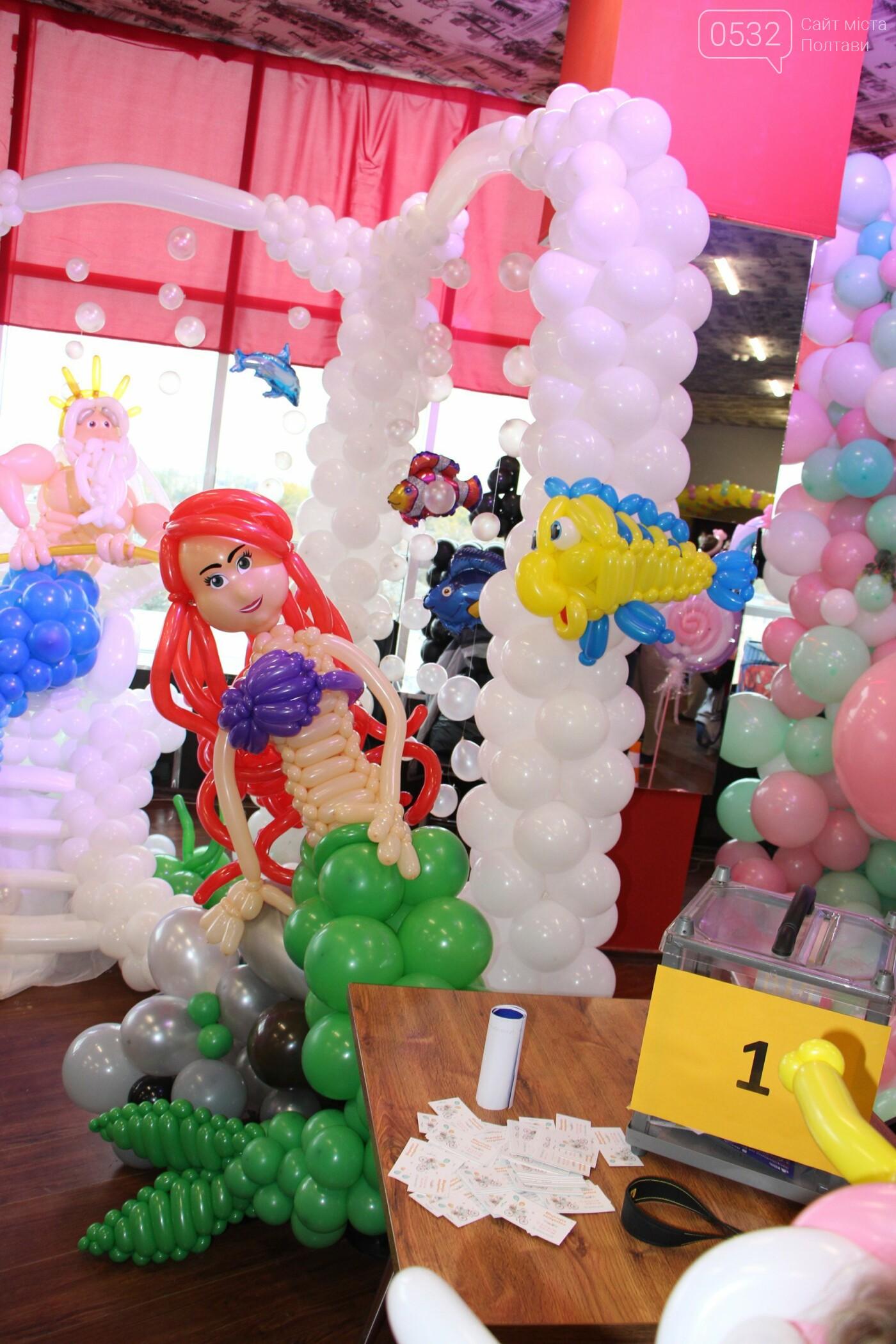 Діти у захваті – у Полтаві вперше організували виставку великих фігур із повітряних кульок (ФОТО)   , фото-5