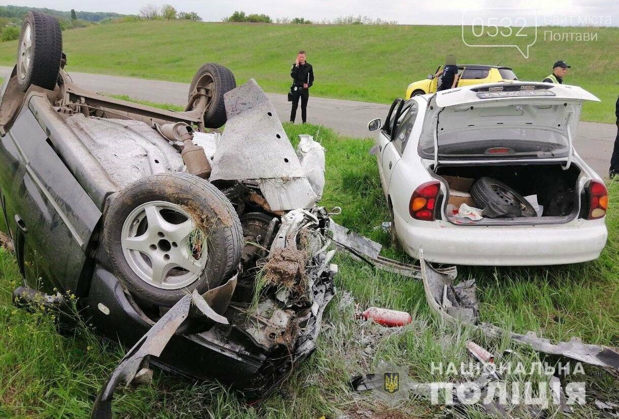 Під час ДТП на Полтавщині перекинувся автомобіль. Водій - у лікарні (ФОТО), фото-1