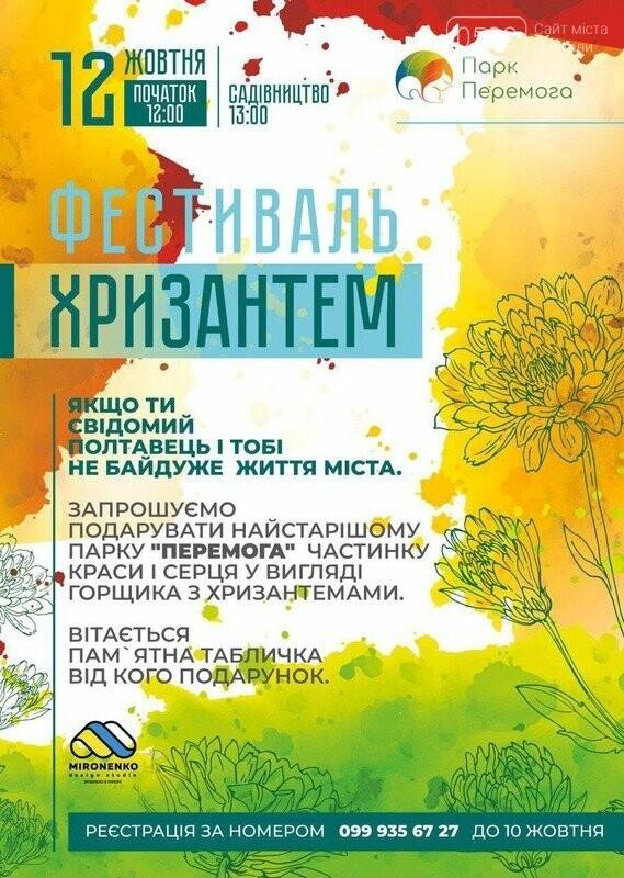 У Полтаві парк «Перемога» хочуть прикрасити хризантемами, фото-1