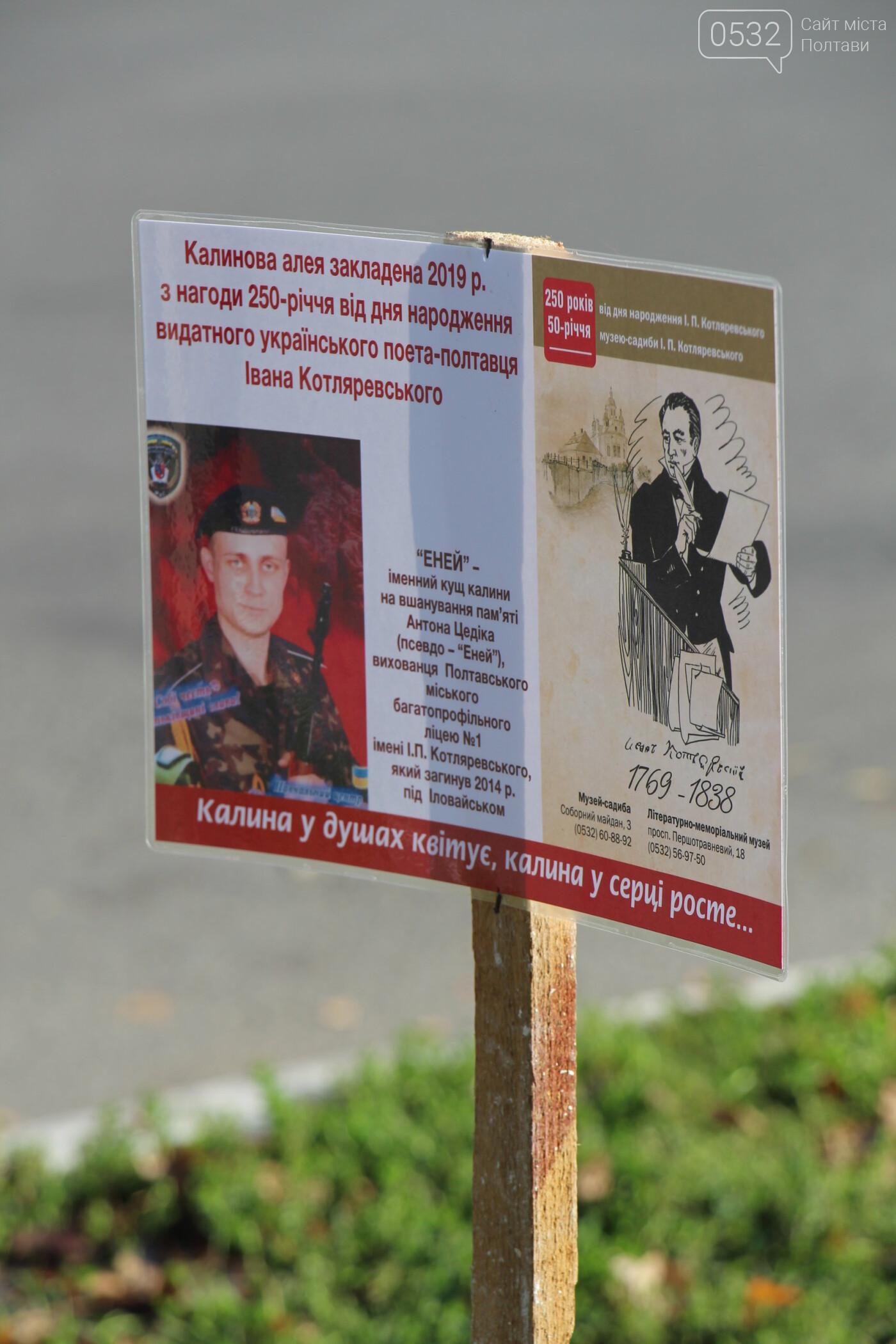 У Полтаві заклали калинову алею на честь Котляревського та загиблого Енея (ФОТО), фото-4