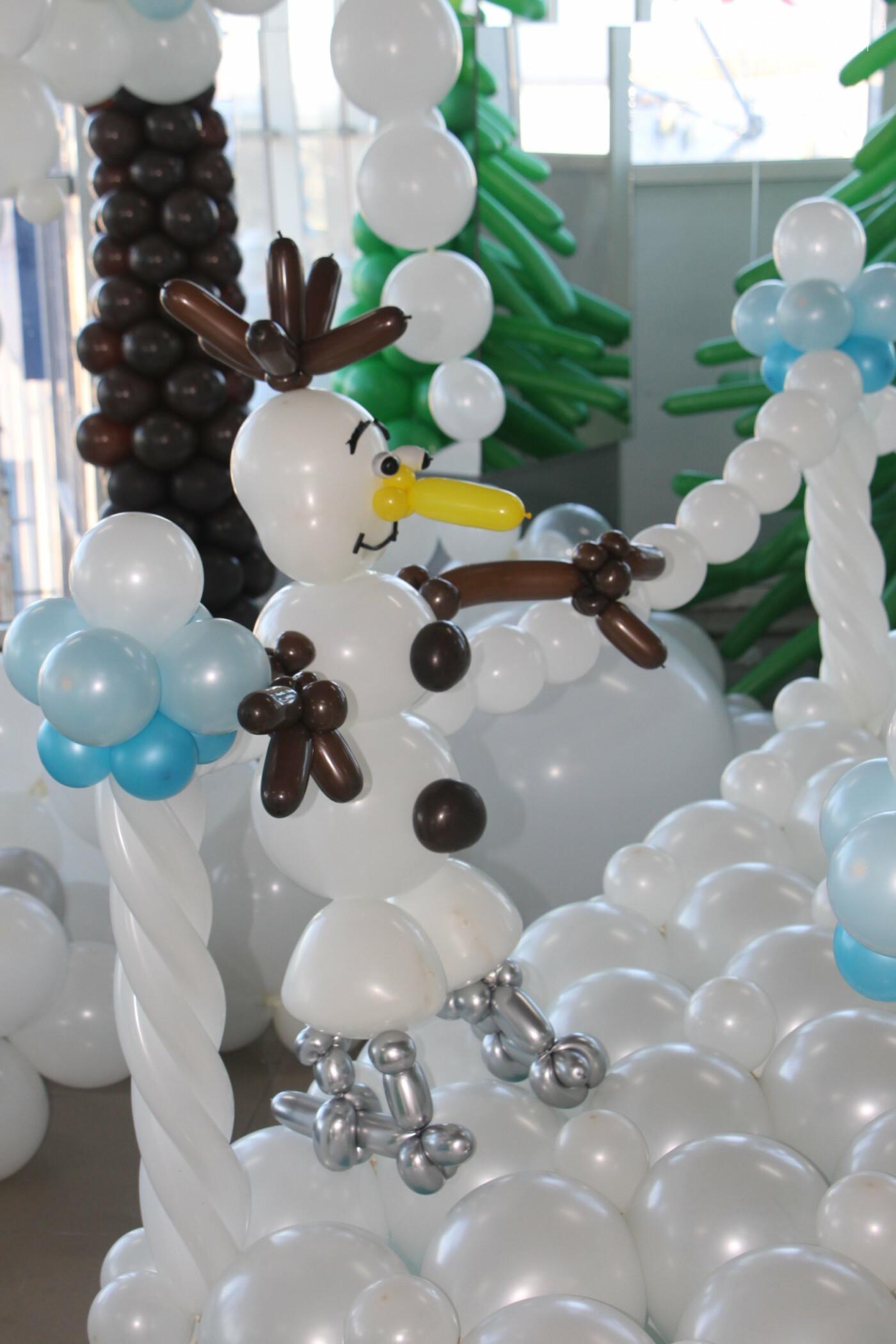У Полтаві для дітей влаштували «Зимову казку» з повітряних кульок (ФОТО), фото-9