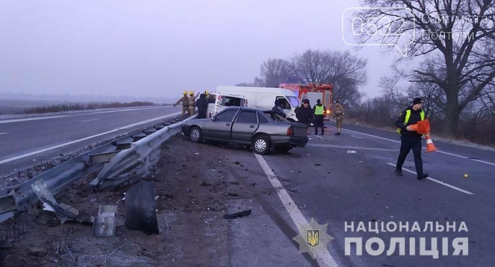 На Полтавщині внаслідок зіткнення трьох автомобілів постраждали двоє людей, фото-1