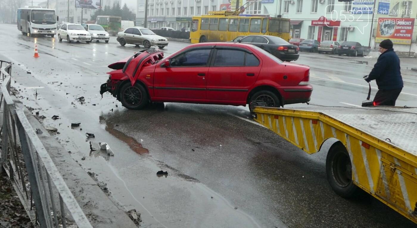 Сьогодні вранці у Полтаві сталося ДТП за участю трьох легковиків, фото-7