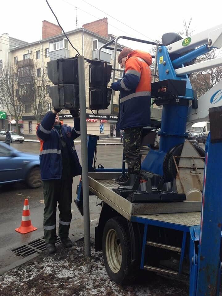 У Полтаві триває ремонт та заміна пішохідних світлофорів, фото-1
