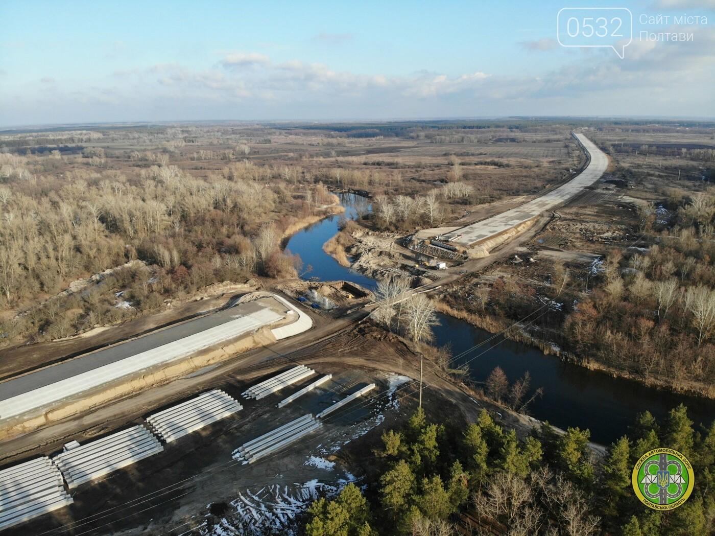 На Полтавщині продовжили реконструкцію автотраси та мосту через Ворсклу, фото-3