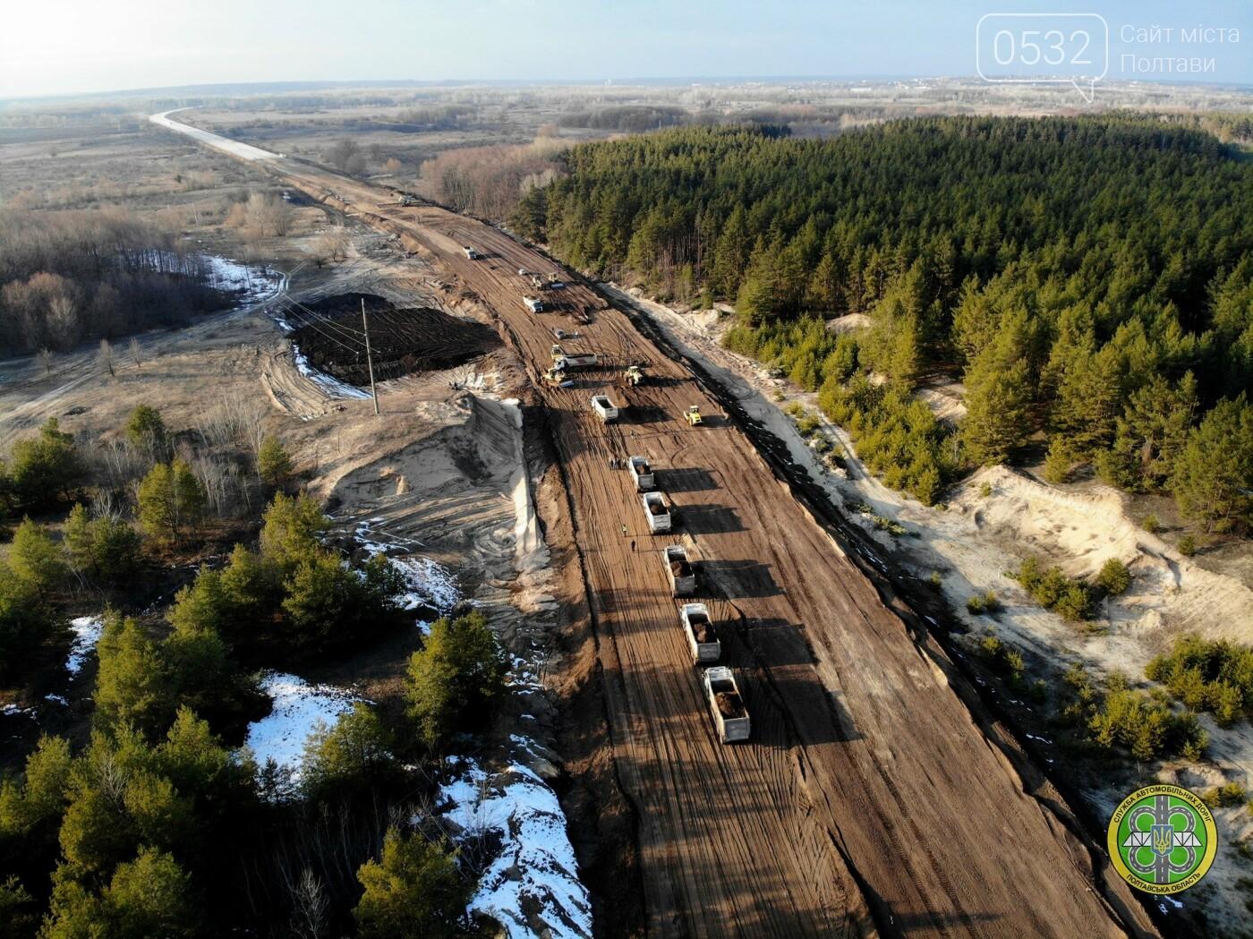На Полтавщині продовжили реконструкцію автотраси та мосту через Ворсклу, фото-1