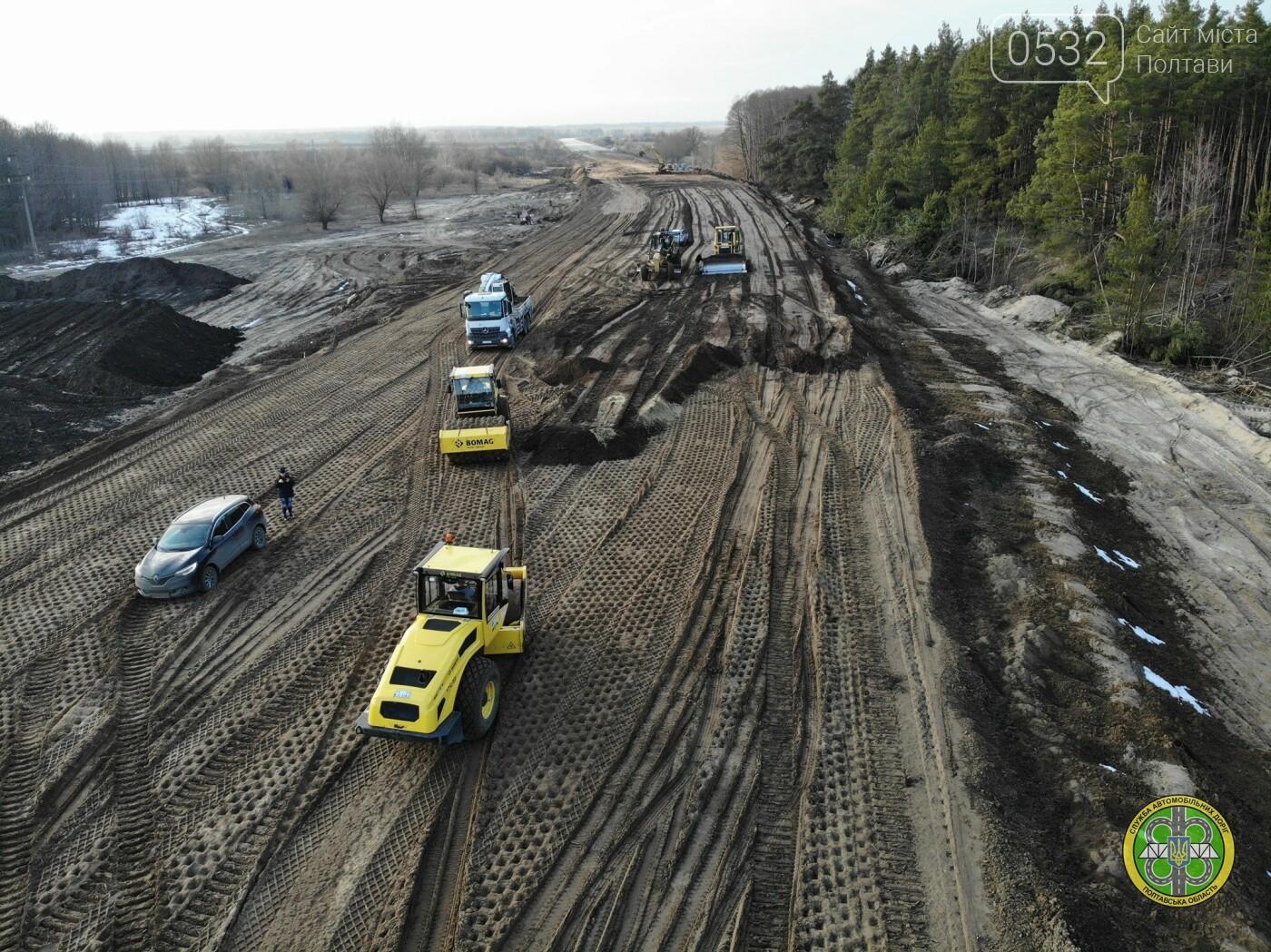 На Полтавщині продовжили реконструкцію автотраси та мосту через Ворсклу, фото-5
