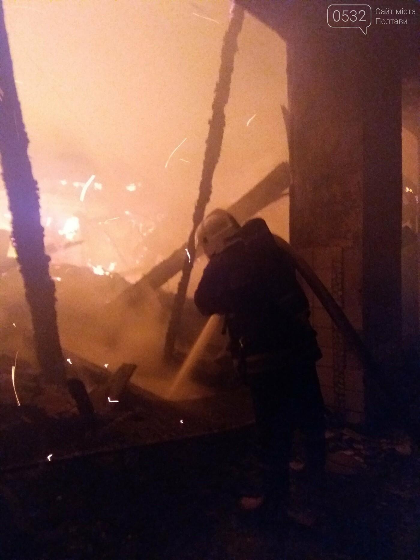 На території Полтавського ТРЗ згоріло приміщення колишньої їдальні, фото-1