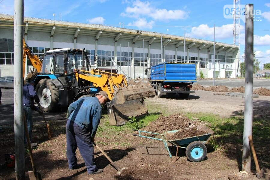 На ігровому майданчику ДЮСШ ім. І.Горпинка покращують благоустрій та змінюють покриття, фото-5