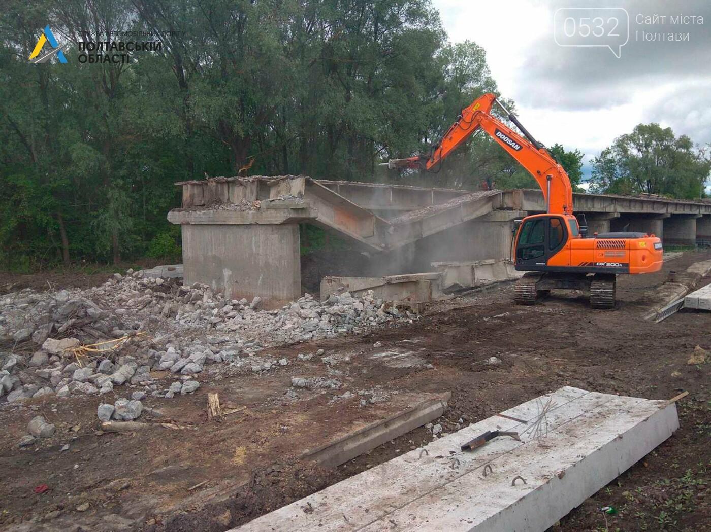 На Полтавщині ремонтують міст через річку Сула, фото-6