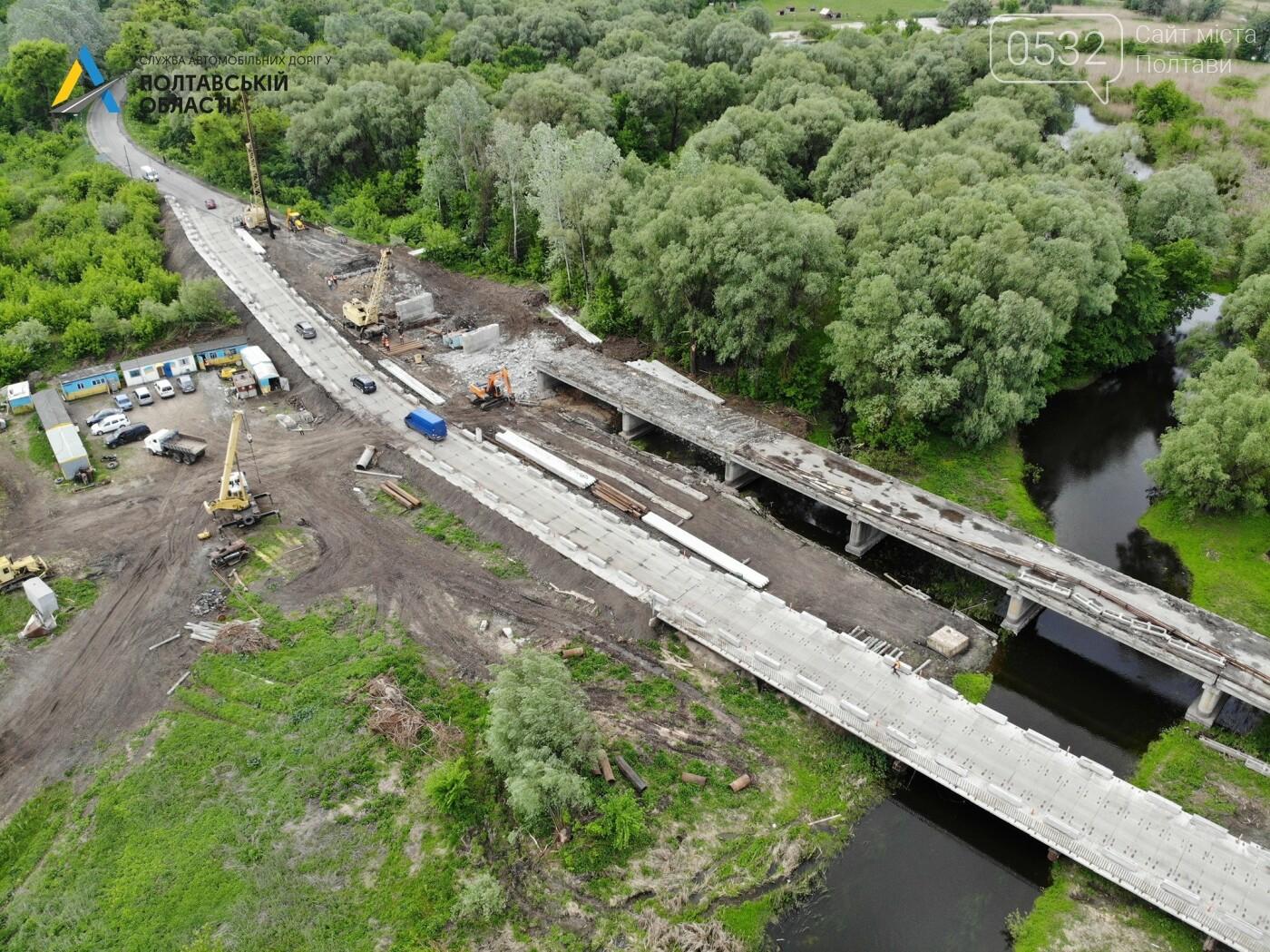 На Полтавщині ремонтують міст через річку Сула, фото-1