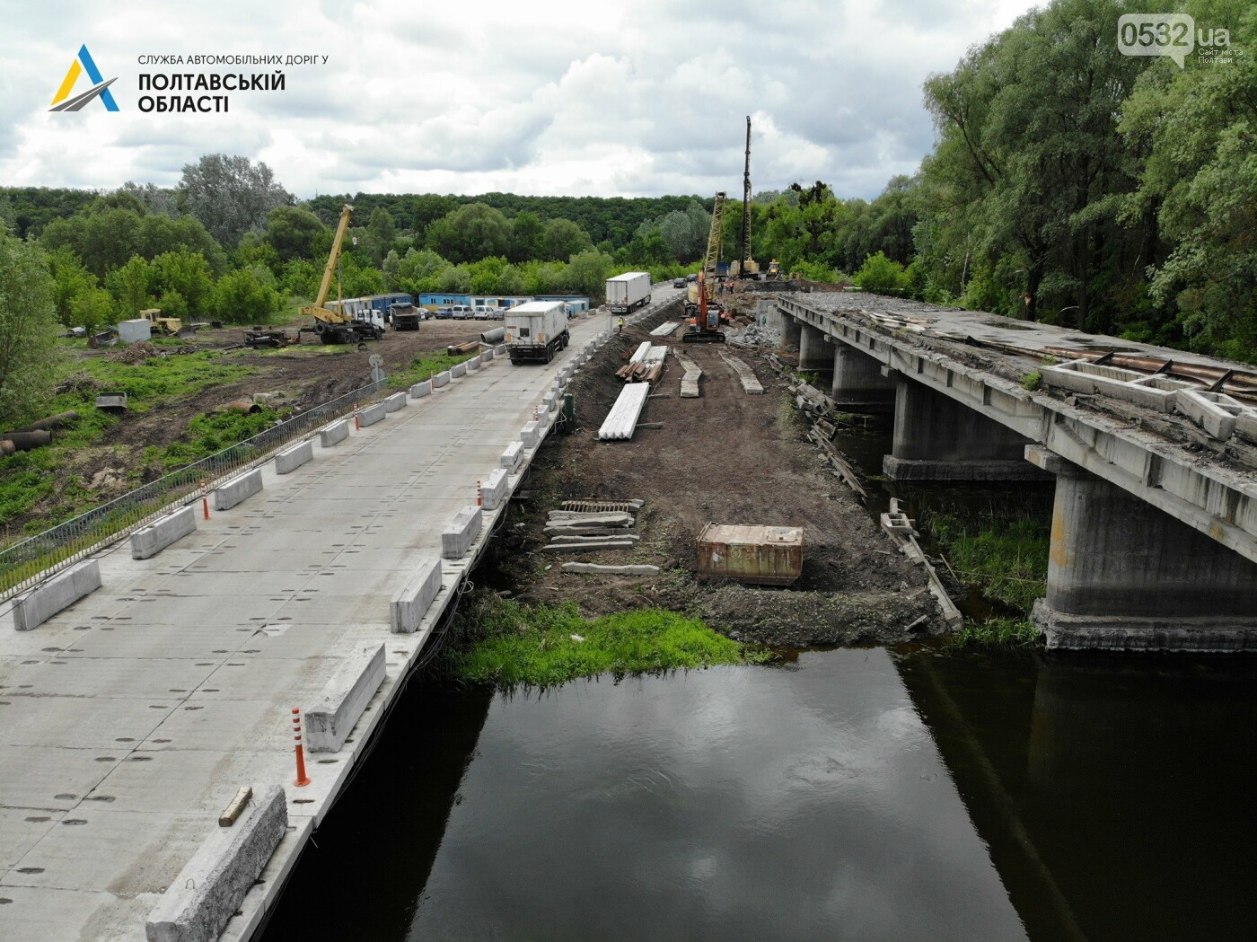На Полтавщині ремонтують міст через річку Сула, фото-4