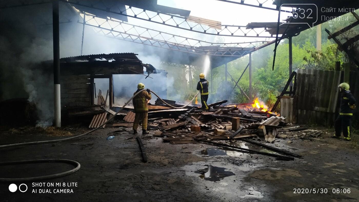 На Полтавщині горіла будівля та ангар, фото-2