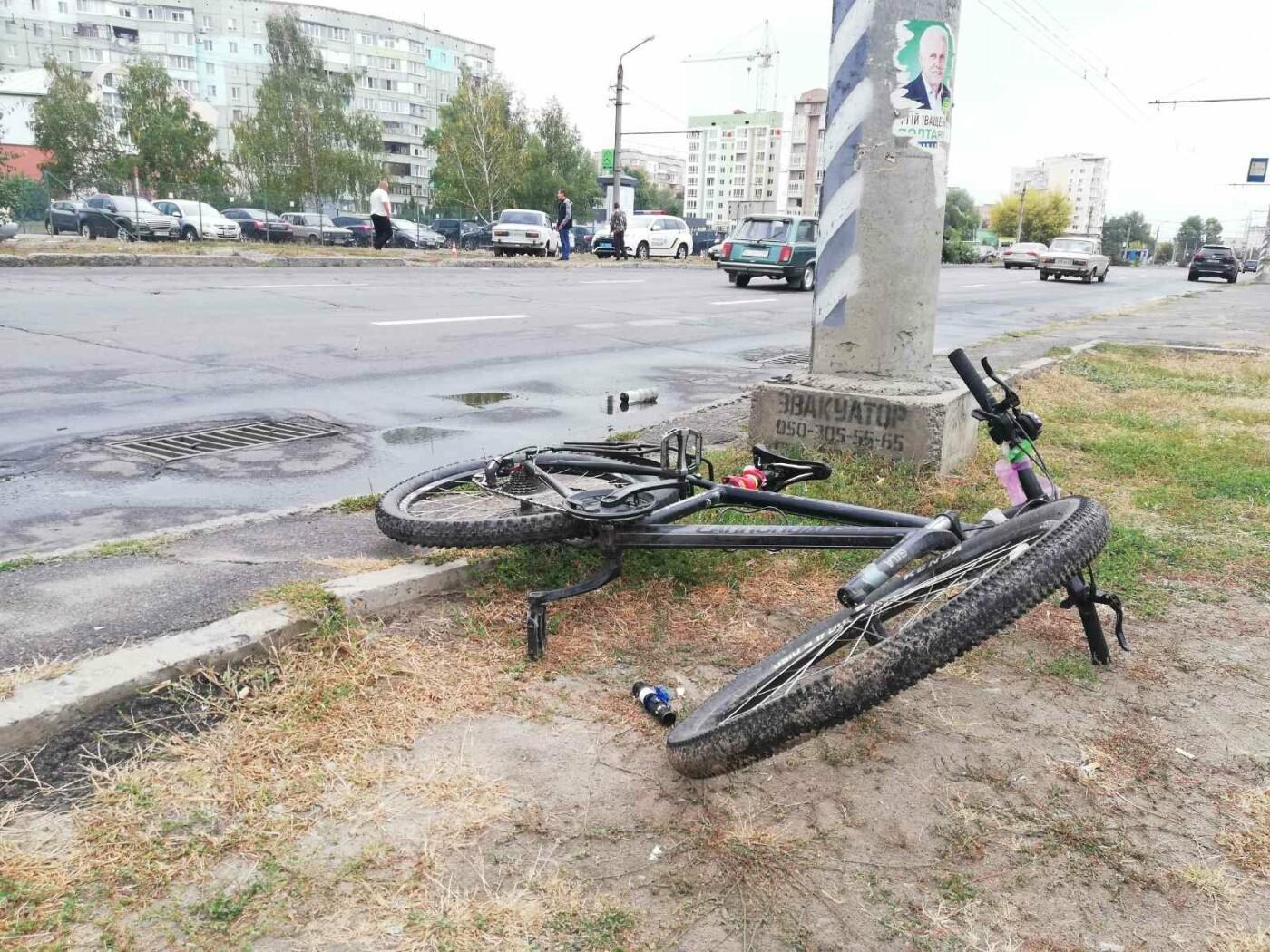 У Полтаві ВАЗ збив дівчину із велосипедом на пішохідному переході (ФОТО), фото-3
