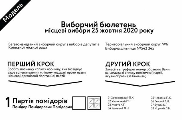 Полтавцям пояснили, як правильно заповнювати виборчий бюлетень на місцевих виборах 2020 (ВІДЕО), фото-1