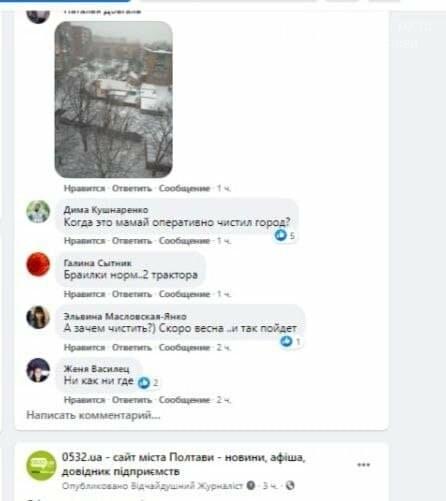Снігопад у Полтаві: міська рада звітує, полтавці критикують, фото-3