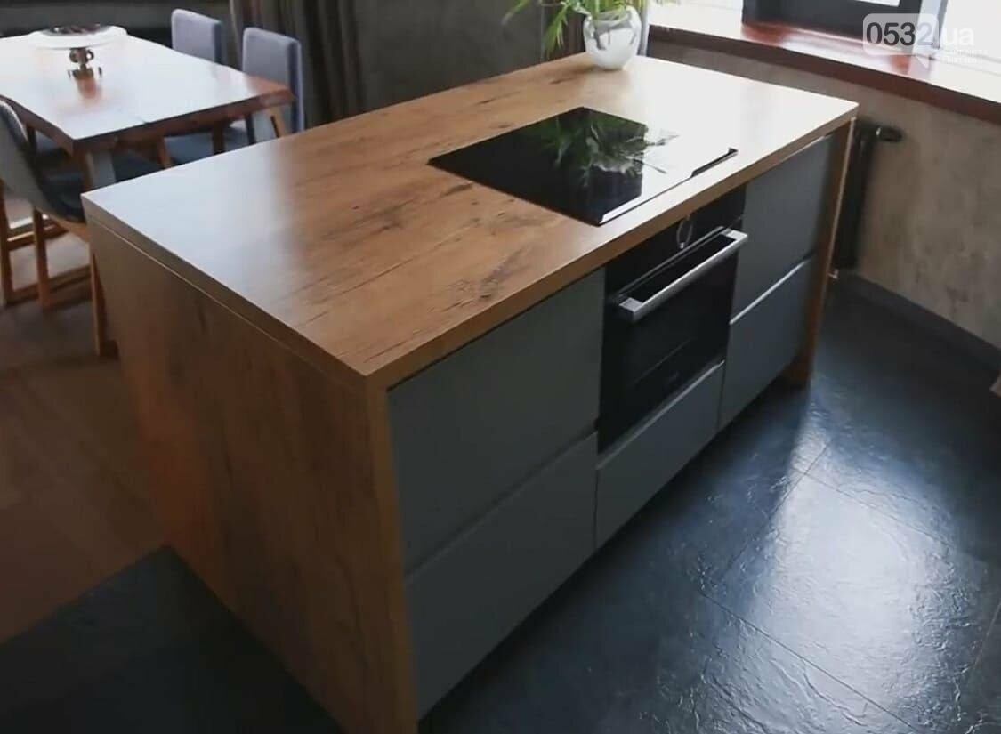 Сіра кухня з островом: стильно та практично, фото-2