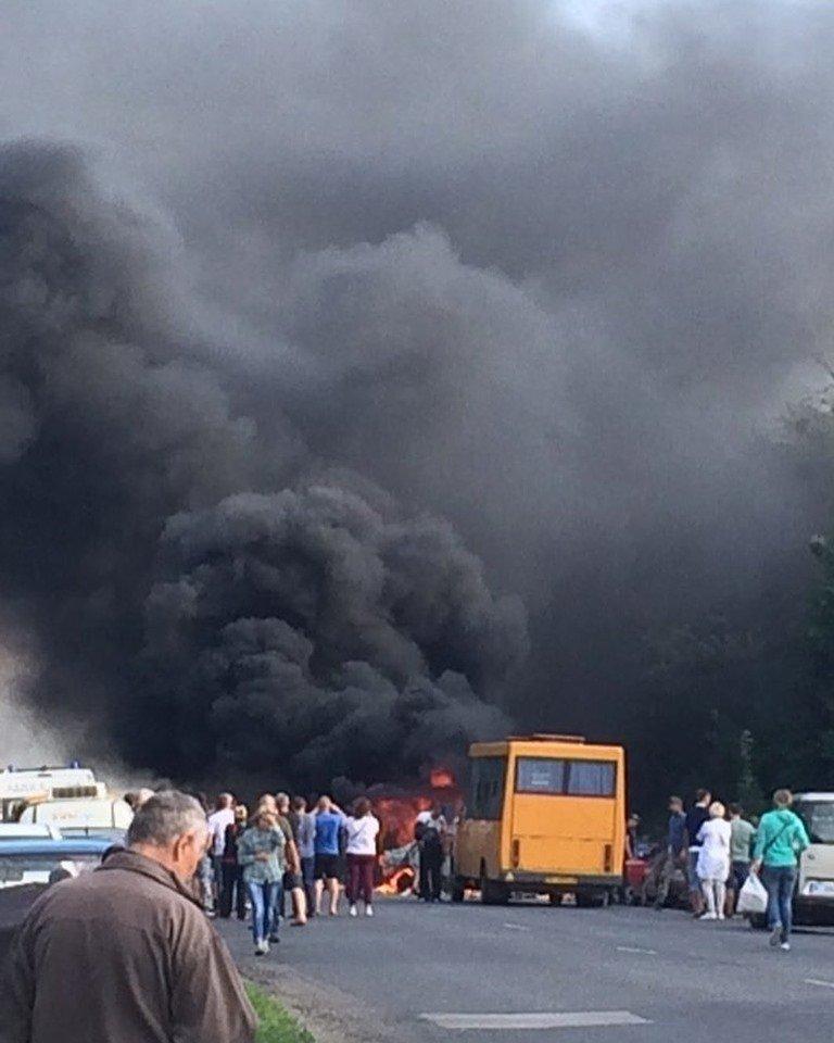 Жахлива аварія під Полтавою - у мережі з'явилося відео зіткнення
