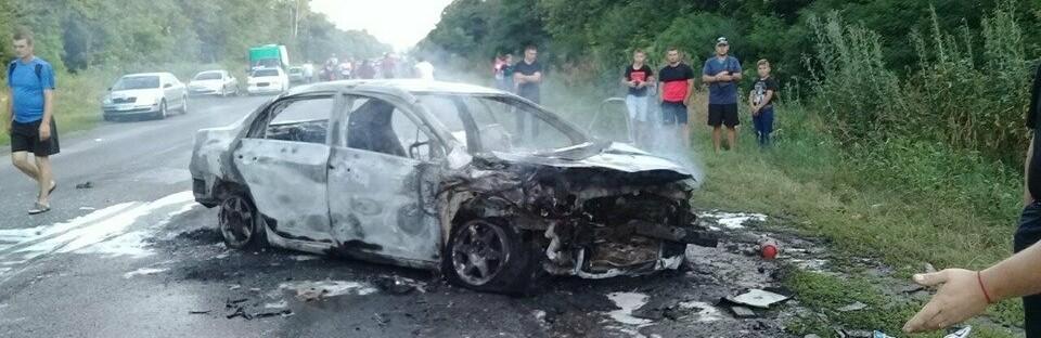 Водій згорілої Тойоти назвав причину смертельної аварії під Полтавою