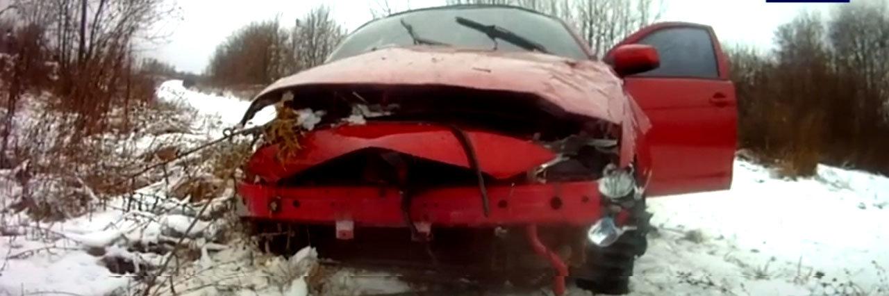 Дитину врятувало автокрісло – на трасі Суми-Полтава перекинувся Mitsubishi Lancer